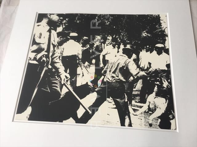 Andy Warhol Birmingham Race Riot screenprint framed.