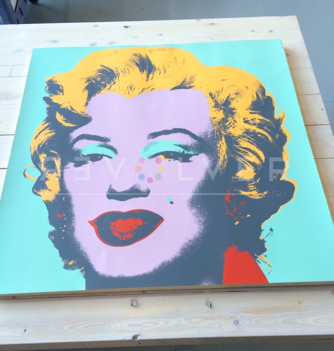 Picture of Marilyn Monroe (Marilyn) (FS II.23), 1967, Purple Blue Yellow, Screen Print Out of Frame, by Andy Warhol