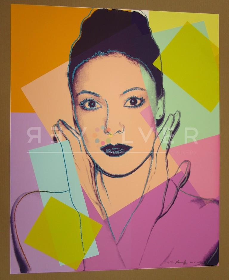 Andy Warhol Karen Kain 236 screenprint out of frame.