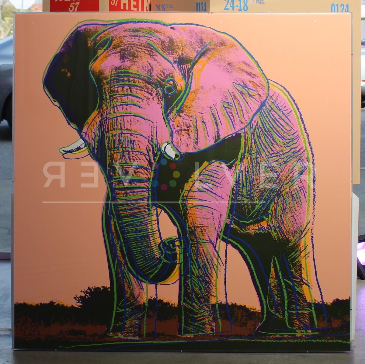 Andy Warhol African Elephant 293 screenprint framed.