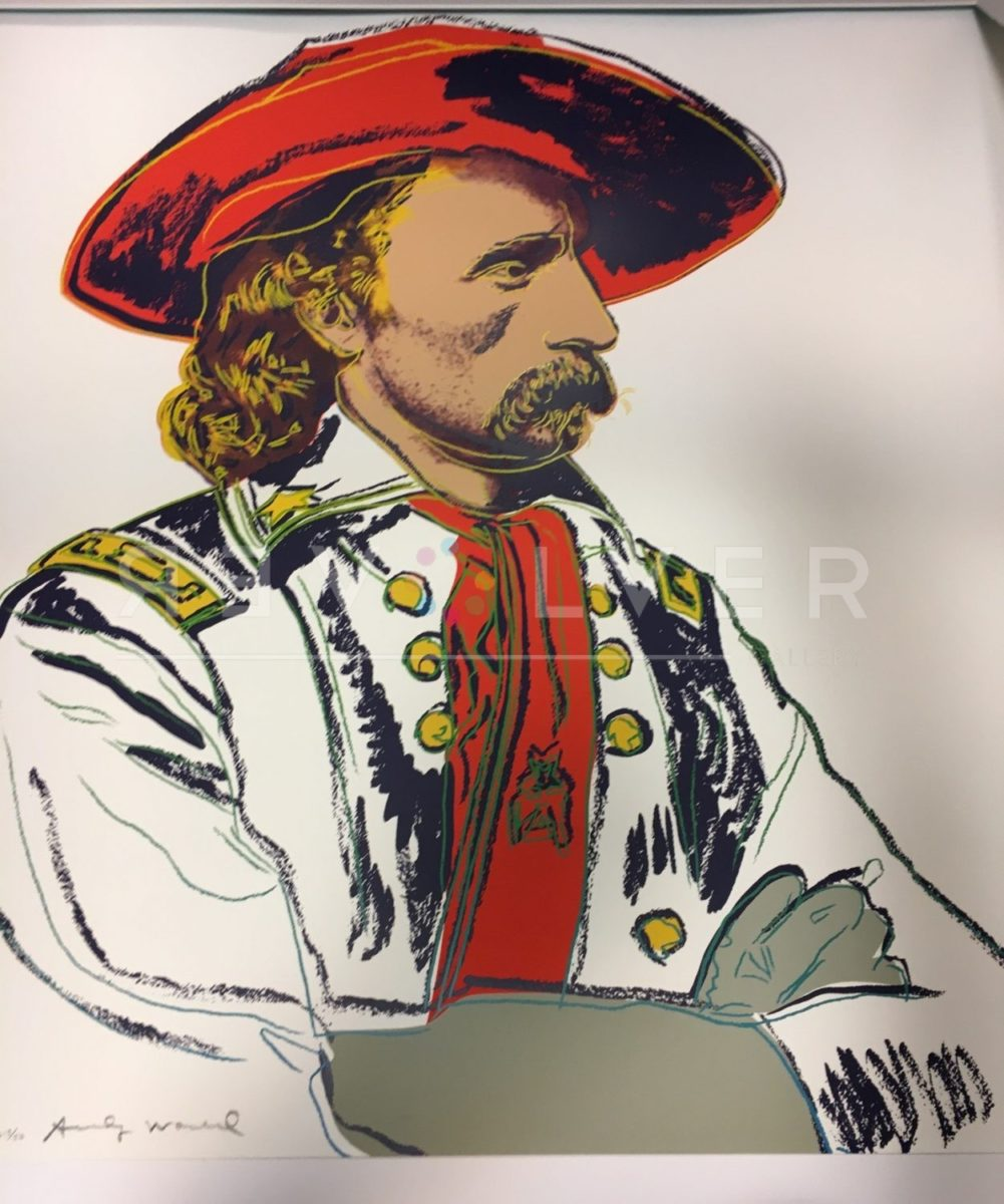 Andy Warhol General Custer 379 screenprint out of frame.