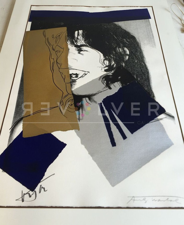 Andy Warhol Mick Jagger 142 screenprint out of frame.