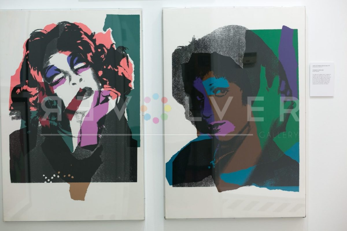 Andy Warhol Ladies and Gentlemen 132 hanging on the gallery wall next to another print from the portfolio.