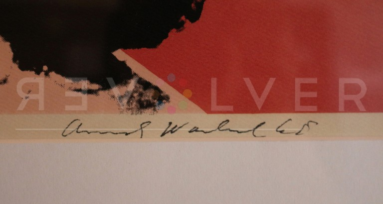Andy Warhol's signature on the bottom of Liz Taylor 7.