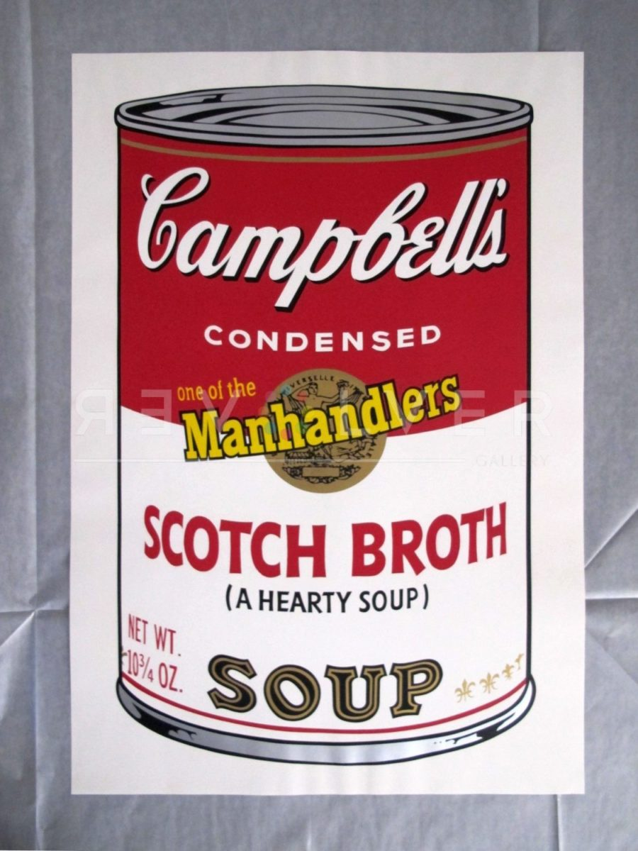 Andy Warhol Campbell's Soup II: Scotch Broth 55 screenprint.