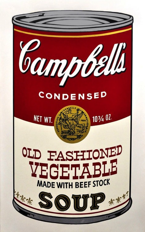 Andy Warhol - Campbell's Old Vegetable Soup