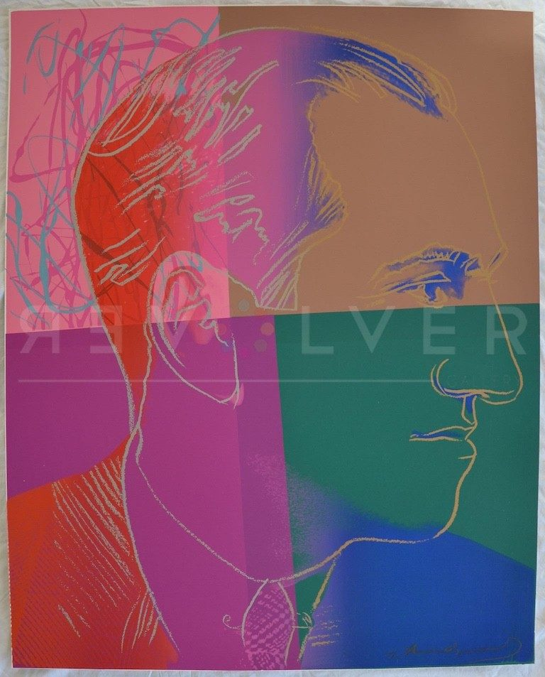 Andy Warhol George Gershwin 231 screenprint out of frame.