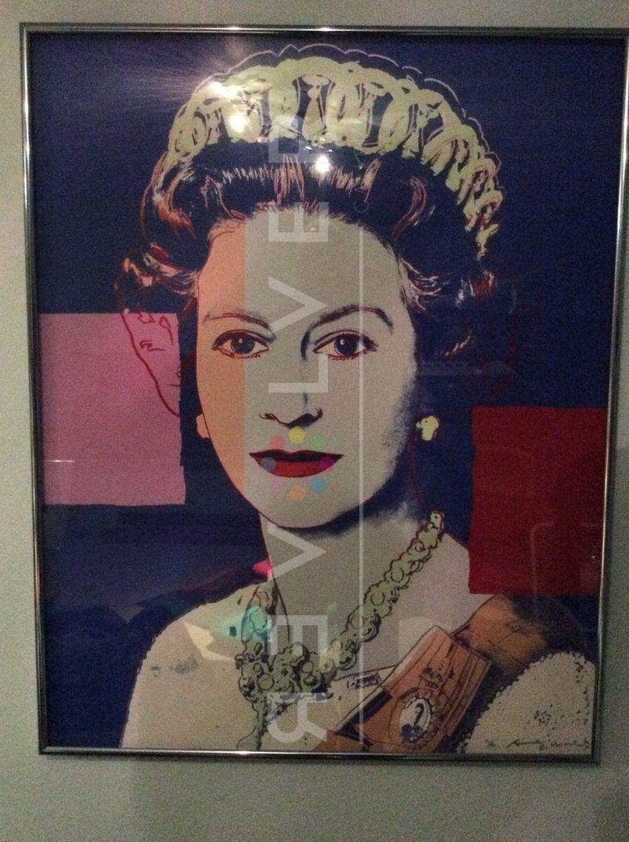 Andy Warhol Queen Elizabeth II 337 screenprint framed.