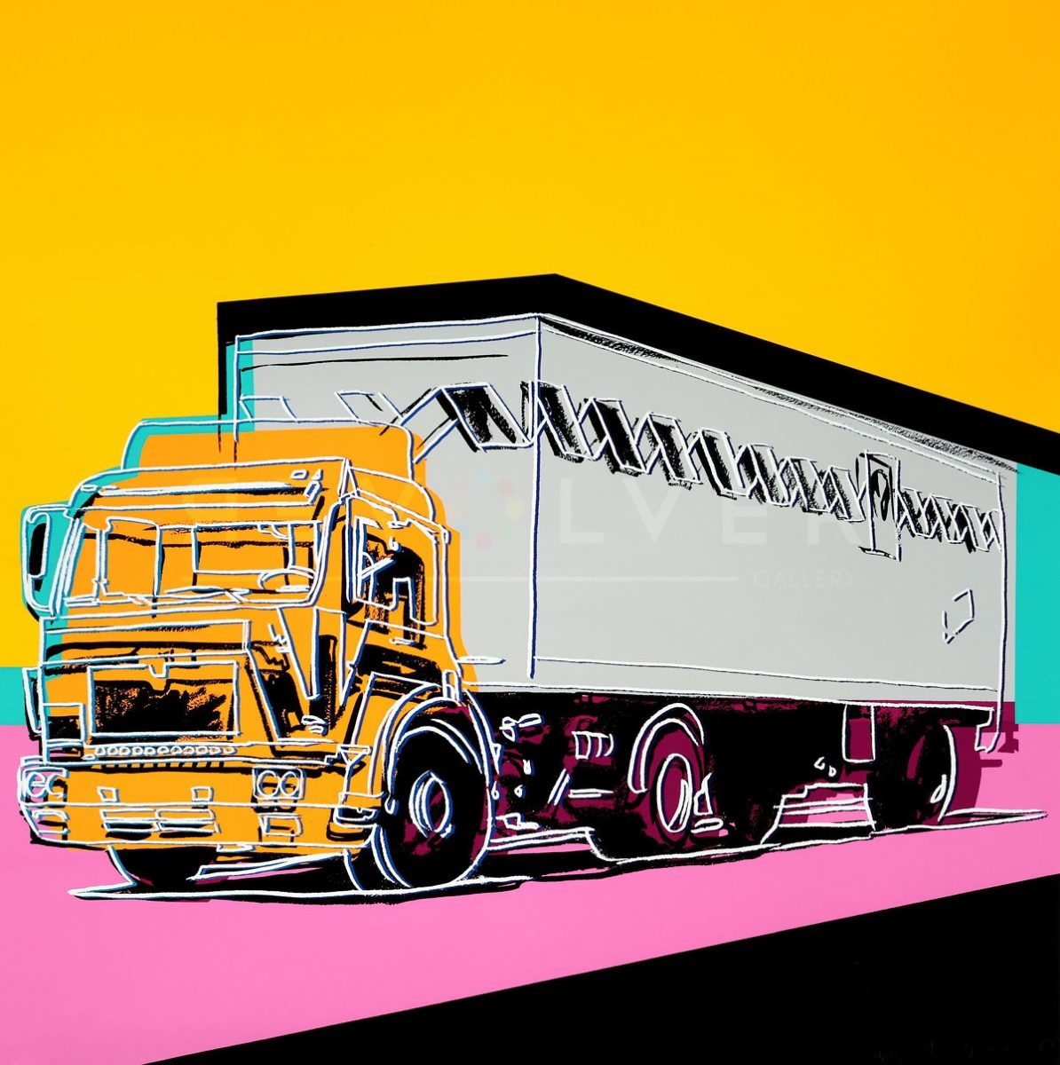 Andy Warhol's screenprint Truck 367