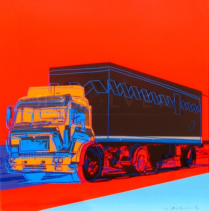 Andy Warhol's 1980's screenprint Truck 369