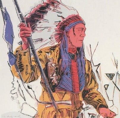 Andy Warhol War Bonnet Indian 373