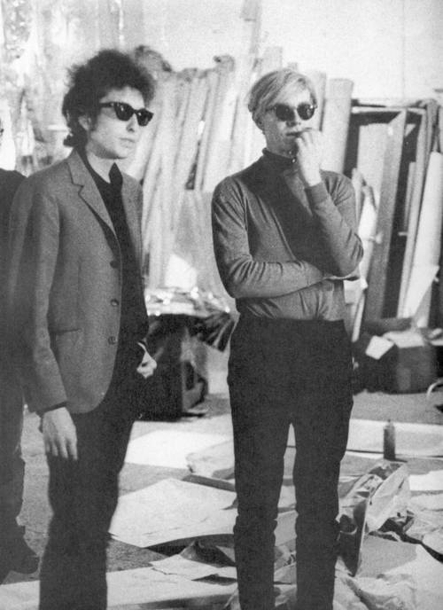 Andy Warhol and Bob Dylan