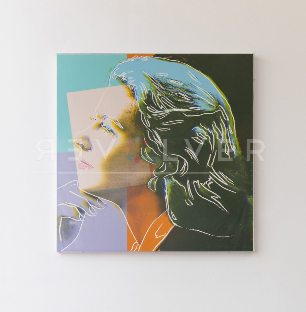 Andy Warhol Ingrid Bergman, Herself 313 screenprint framed and hanging on the wall.