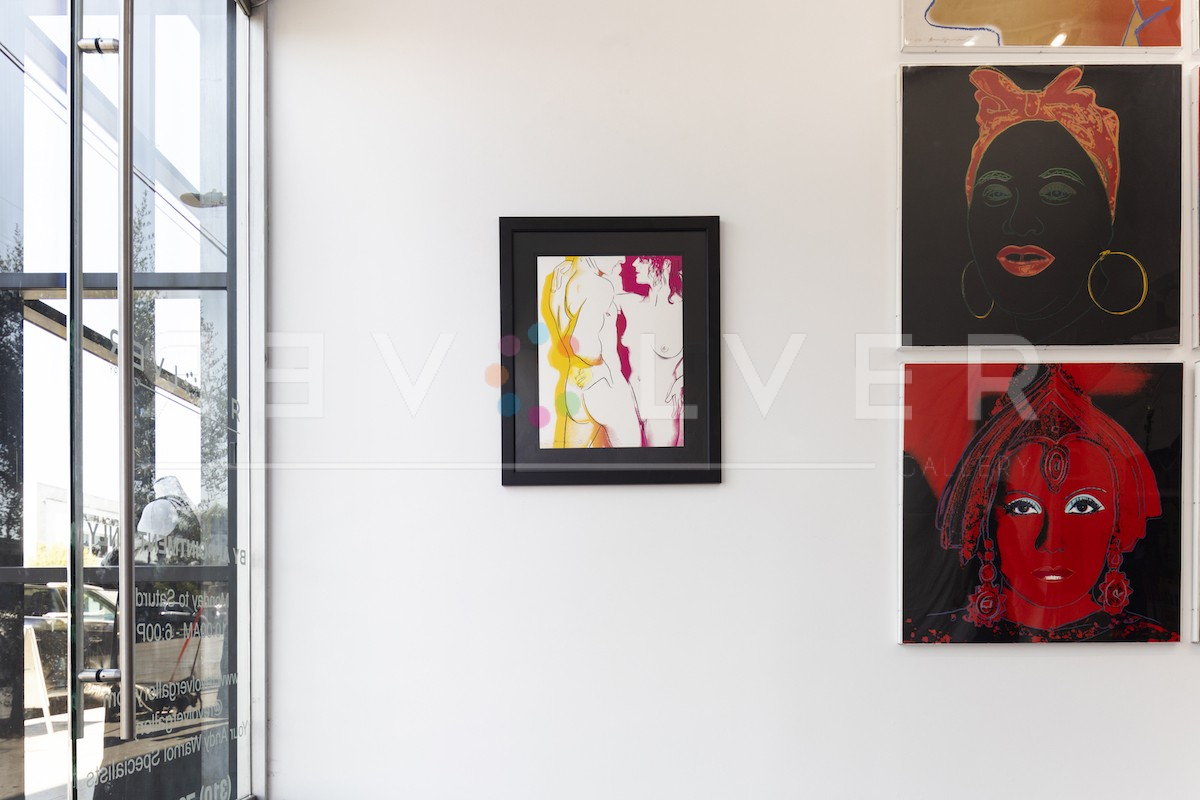 Andy Warhol Love 311 framed and hanging on the gallery wall for size comparison.