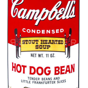 Original Screenprint by Andy Warhol Hot Dog Bean, from Campbell's Soup series.