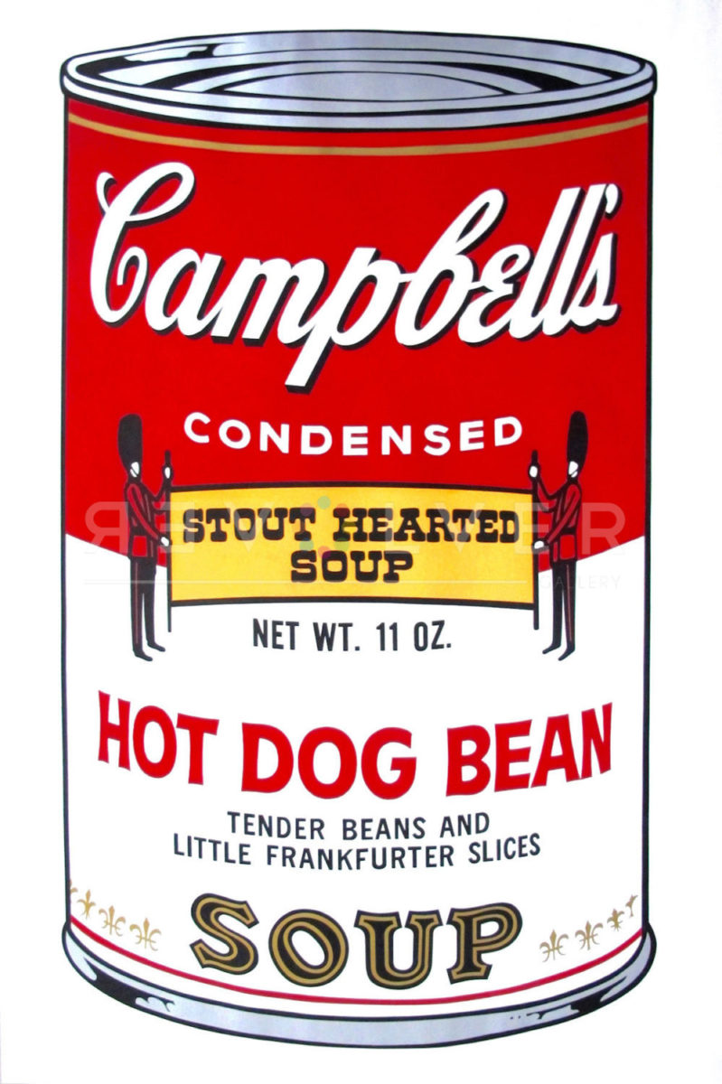 Picture of Campbell Soup II: Hot Dog Bean (FS II.59), 1969, stock version, by Andy Warhol