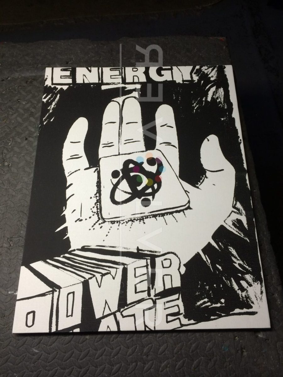 Front of Andy Warhol Energy Power screenprint.