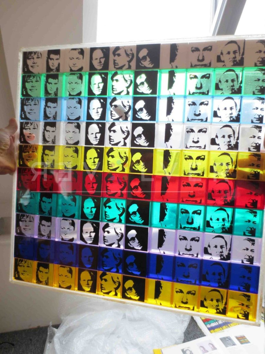 Andy Warhol Portrait of the Artists 17 screenprint.