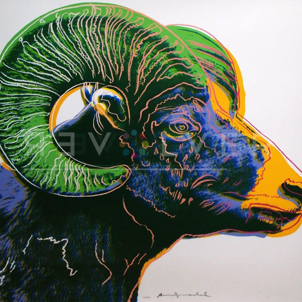 Andy Warhol - Bighorn Ram F.S. II 302 jpg
