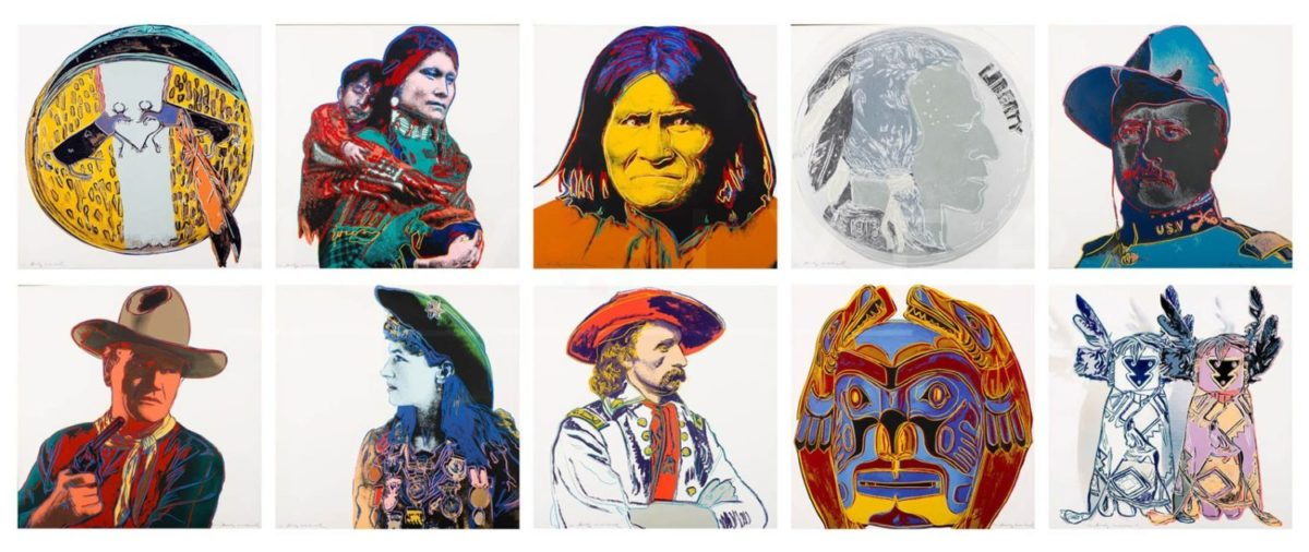 all 10 screenprints from andy warhol's cowboys and Indians complete portfolio