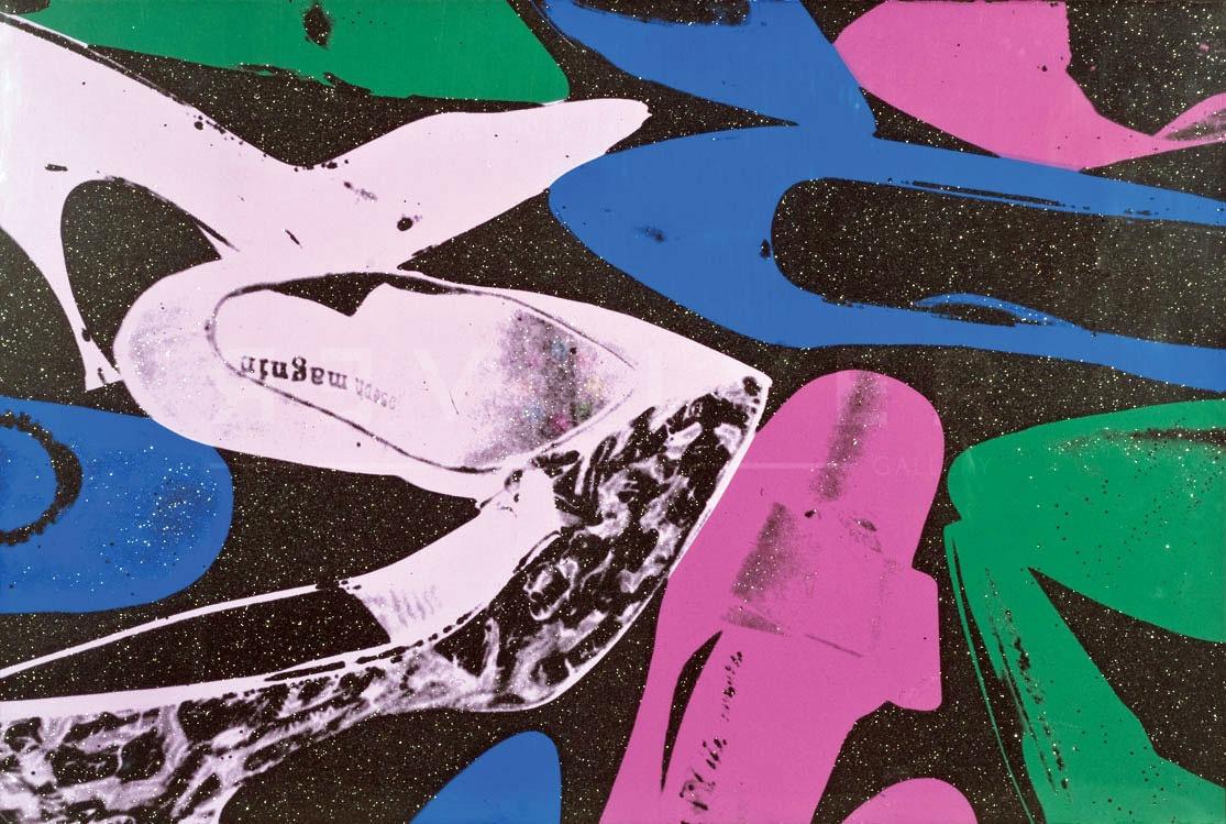 Andy Warhol Shoes 254 screenprint stock image.