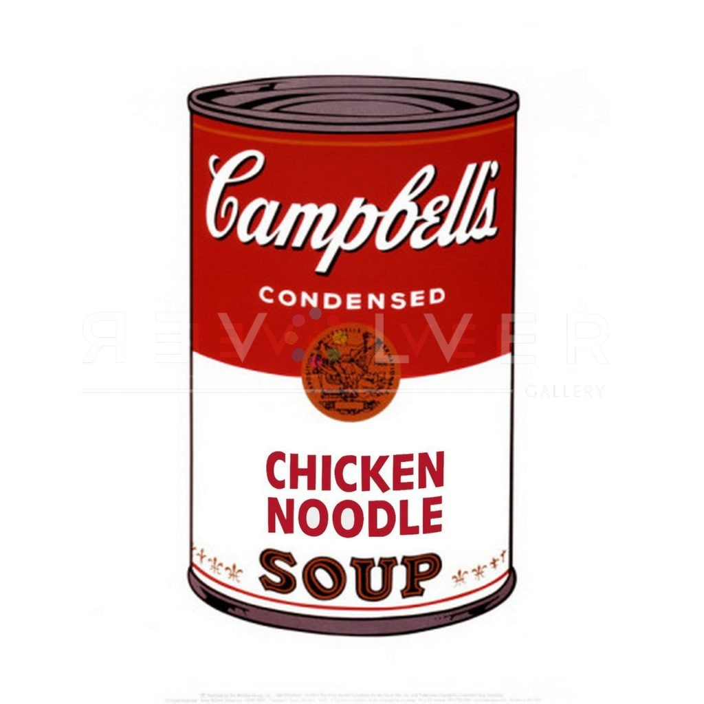 Andy Warhol Campbell's Soup I: Chicken Noodle 45 stock image with Revolver gallery watermark.