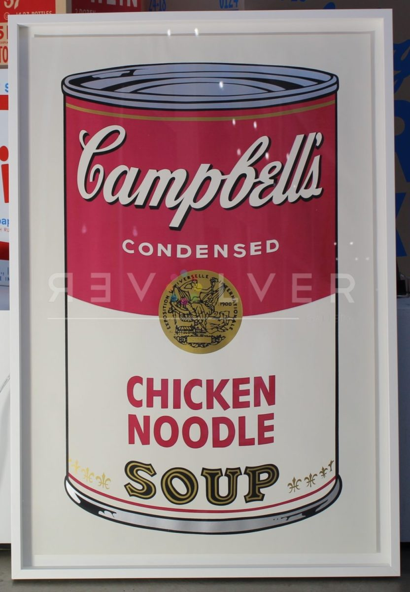 Andy Warhol Campbell's Soup I: Chicken Noodle 45 screenprint framed.