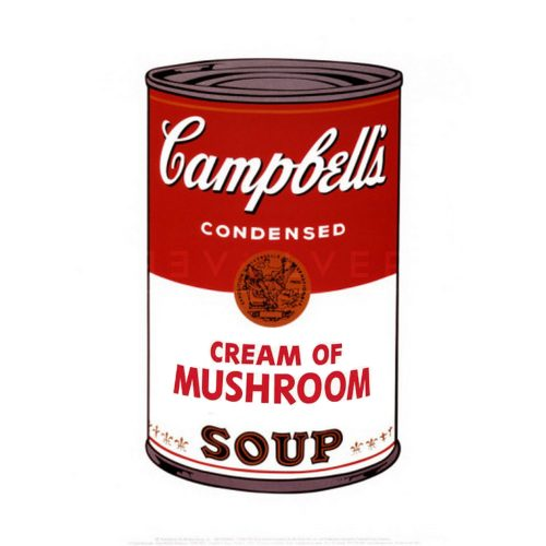 Andy Warhol Campbell's Soup I: Cream of Mushroom 53 stock image with Revolver gallery watermark.