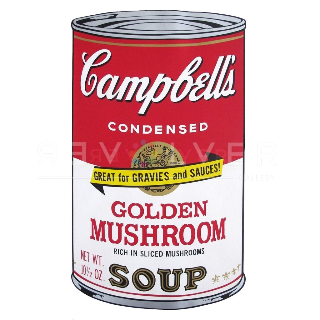Stock image for Campbell's Soup II: Golden Miushroom 62 screenprint by Andy Warhol.