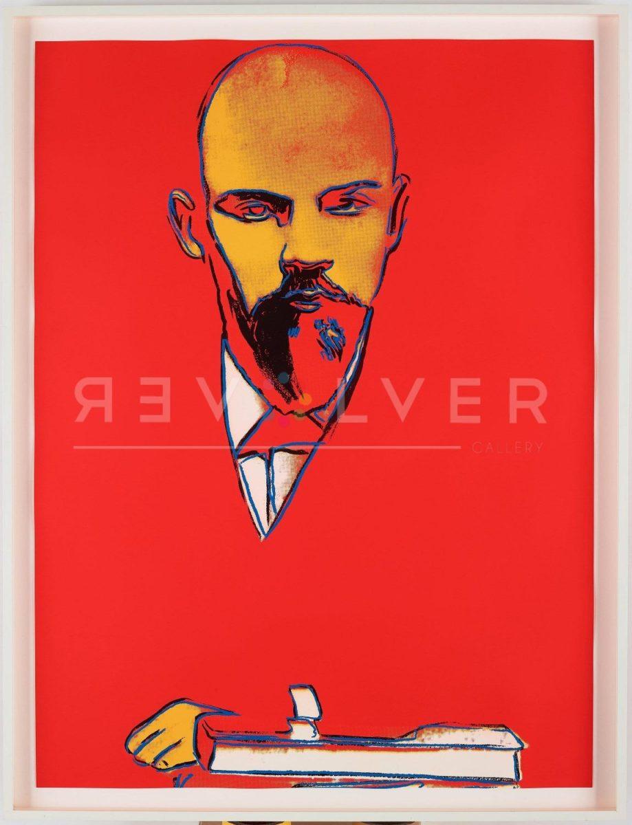 Andy Warhol Red Lenin 403 screenprint in frame.