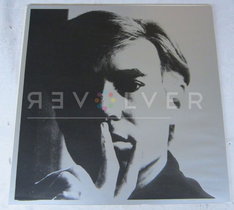 Andy Warhol Self-Portrait 16 screenprint out of frame.