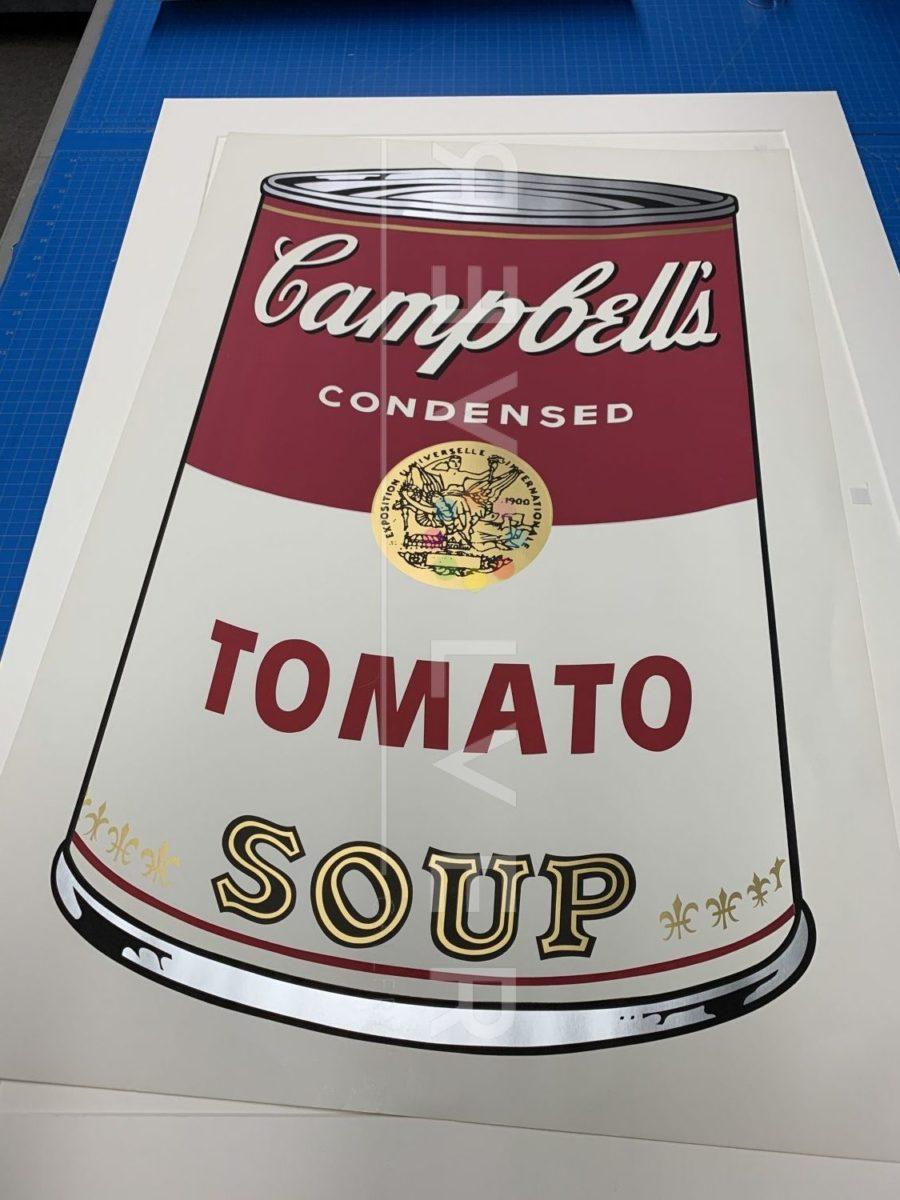 Andy Warhol Campbell's Soup I: Tomato 46 screenprint.