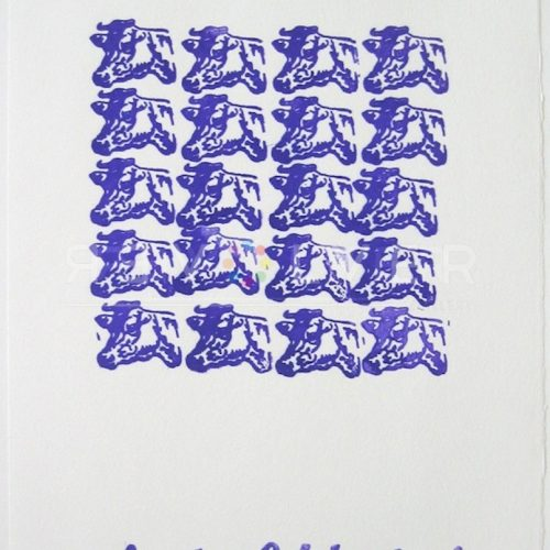 Andy Warhol - Purple Cows F.S. II 17A jpg