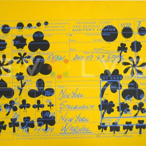 Andy Warhol - SAS Passenger Ticket F.S. II 20 jpg