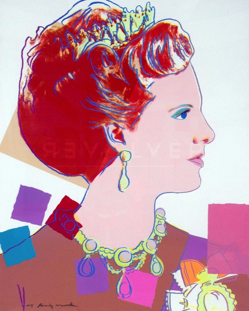 Queen Margrethe II of Denmark 344 - Andy Warhol jpg