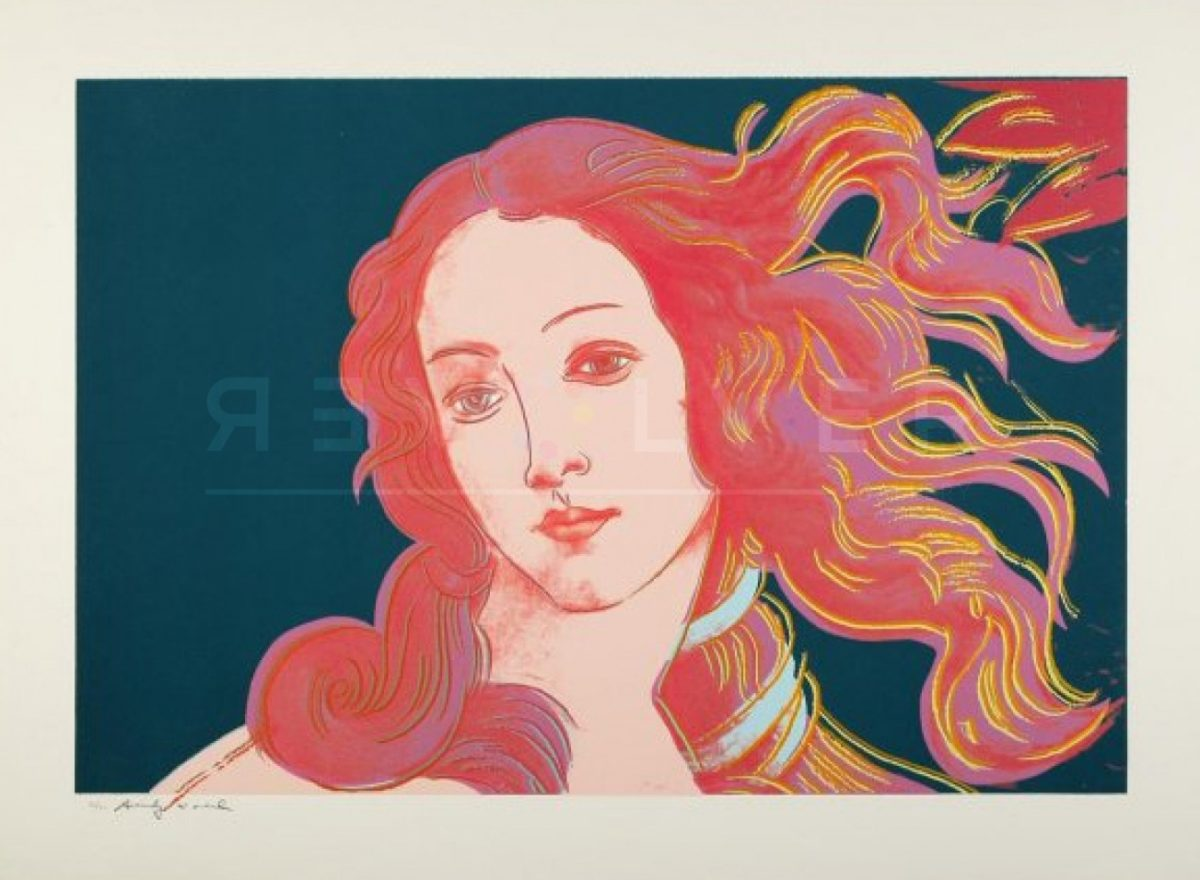 Andy Warhol - Sandro Botticelli Birth of Venus F.S. II 316 jpg