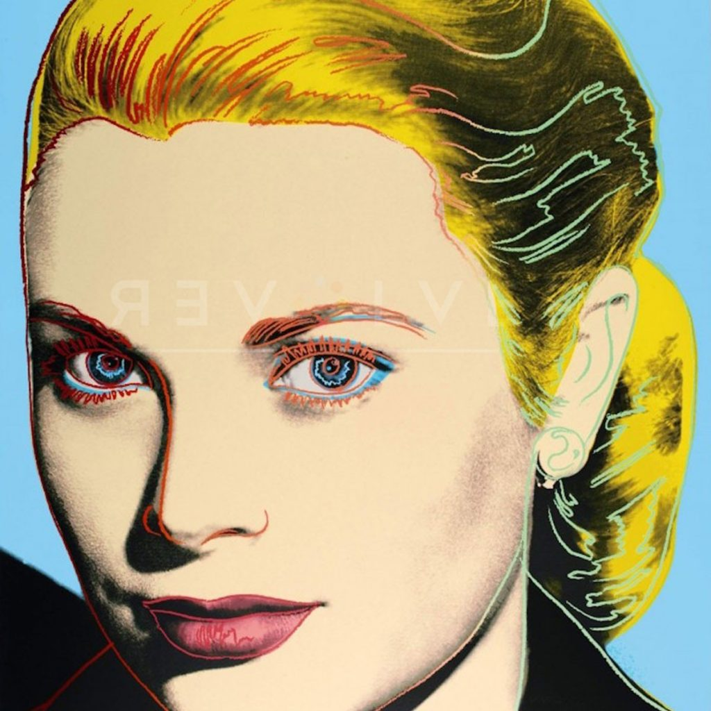 Click to view Andy Warhol Grace Kelly 305 screenprint for sale.