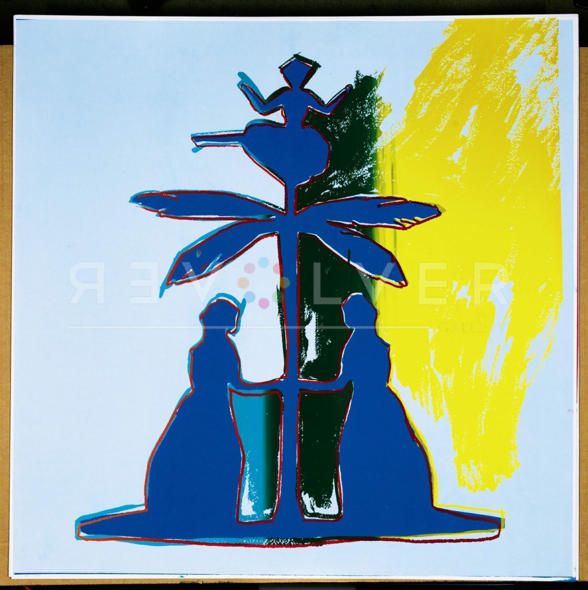 Andy Warhol Hans Christian Andersen 395 screenprint out of frame.