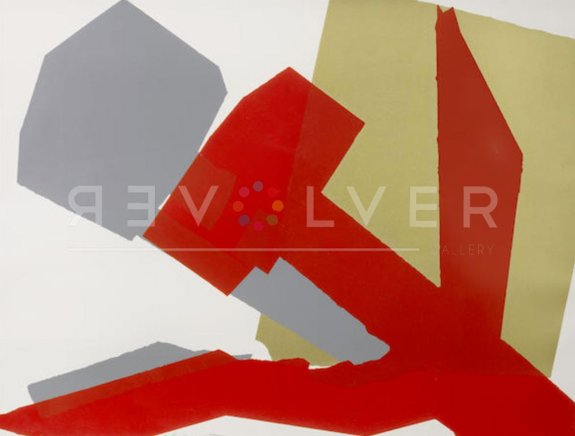 close up image of hammer and sickle special edition 167 screenprint by andy warhol. Basic stock photo with revolver gallery watermark.