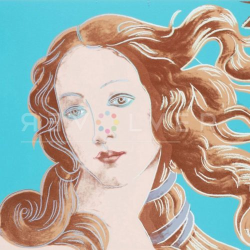 Square cropped image of Andy Warhol's Birth of Venus 319 showing the middle of the print.