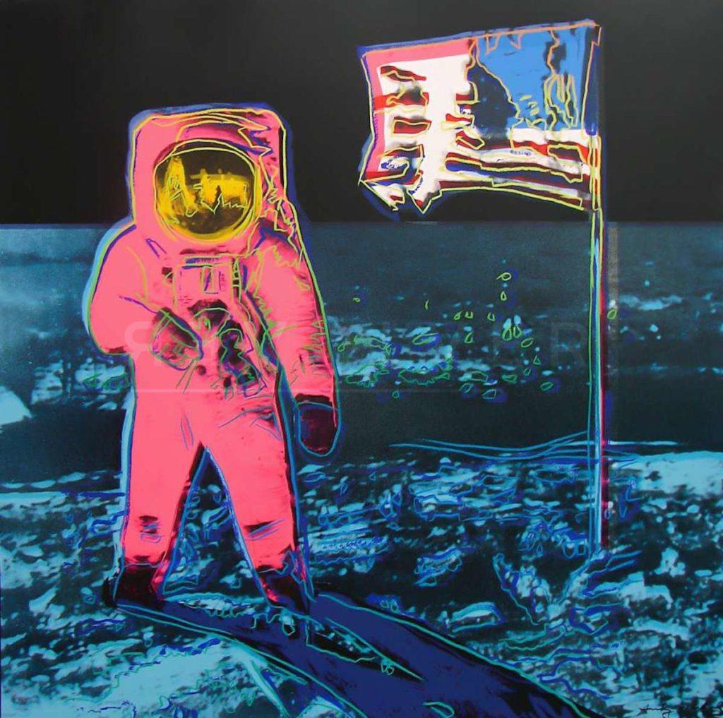 Andy Warhol - Moonwalk, Blue and Pink (FS II.405) jpg