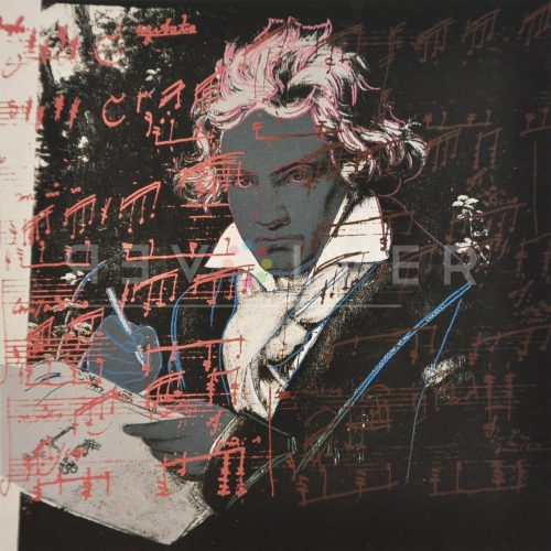 Beethoven 391 by Andy Warhol, basic stock image with revolver gallery watermark.