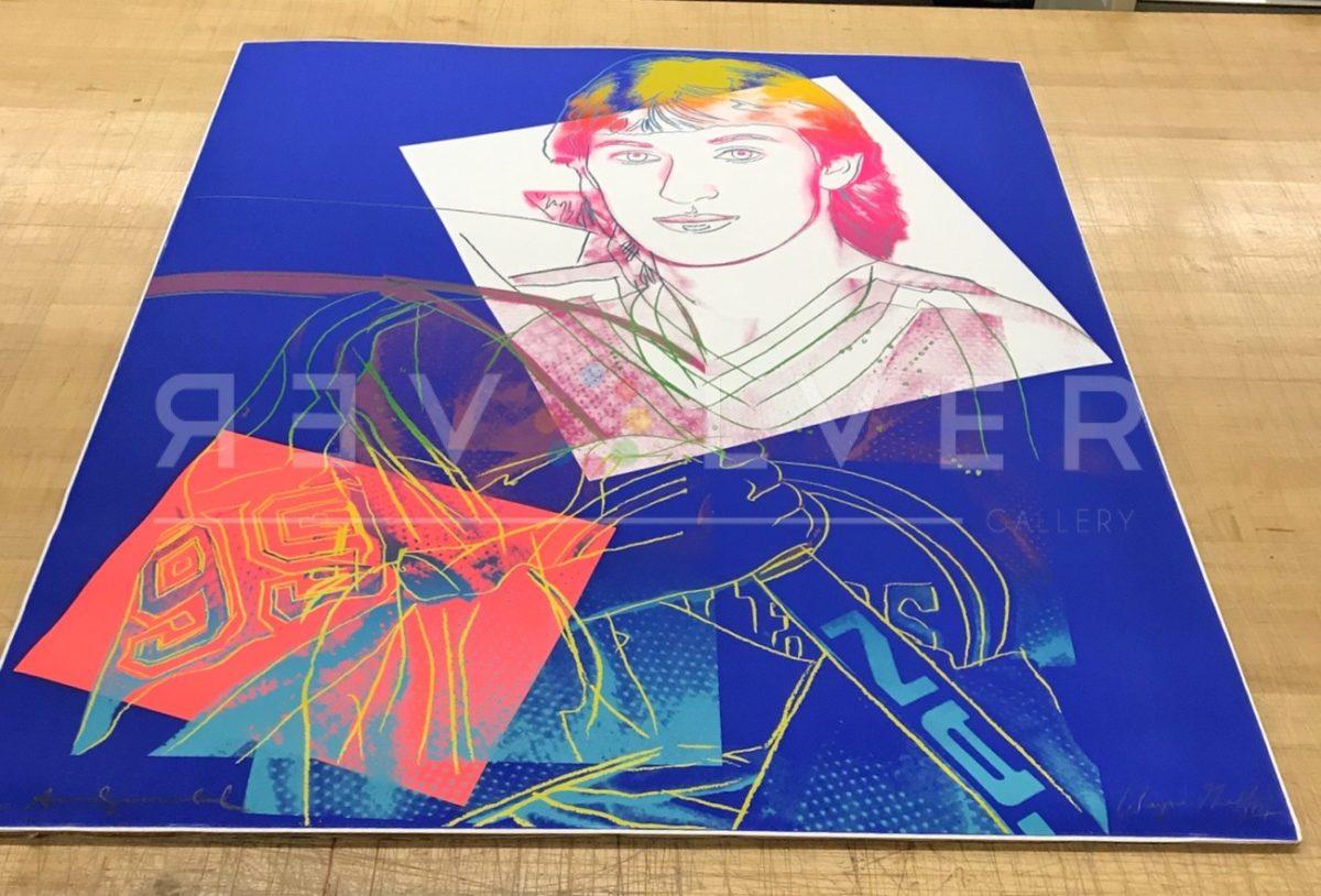 Andy Warhol Wayne Gretzky 306 screenprint out of frame.
