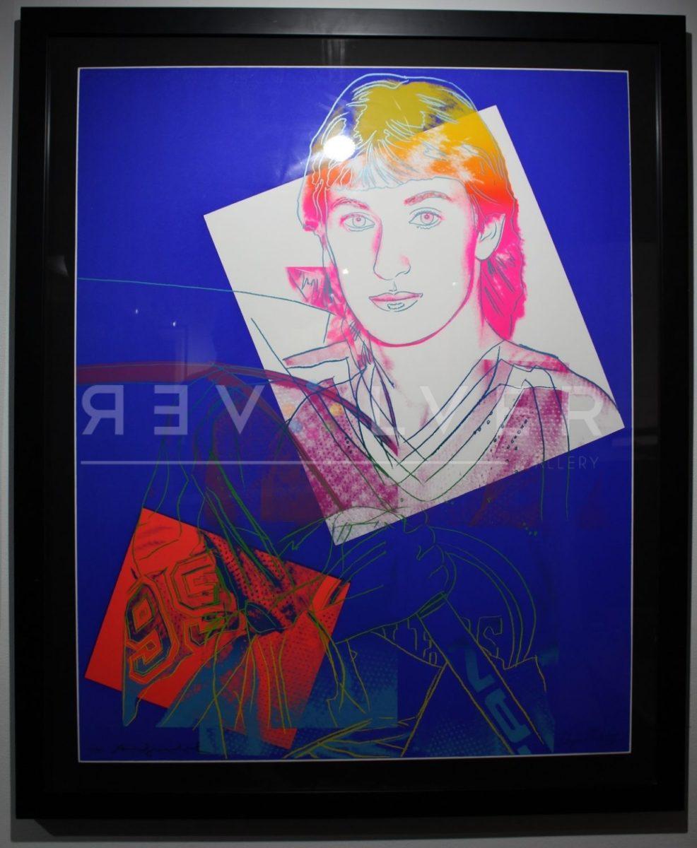 Andy Warhol Wayne Gretzky 306 screenprint in a black frame.