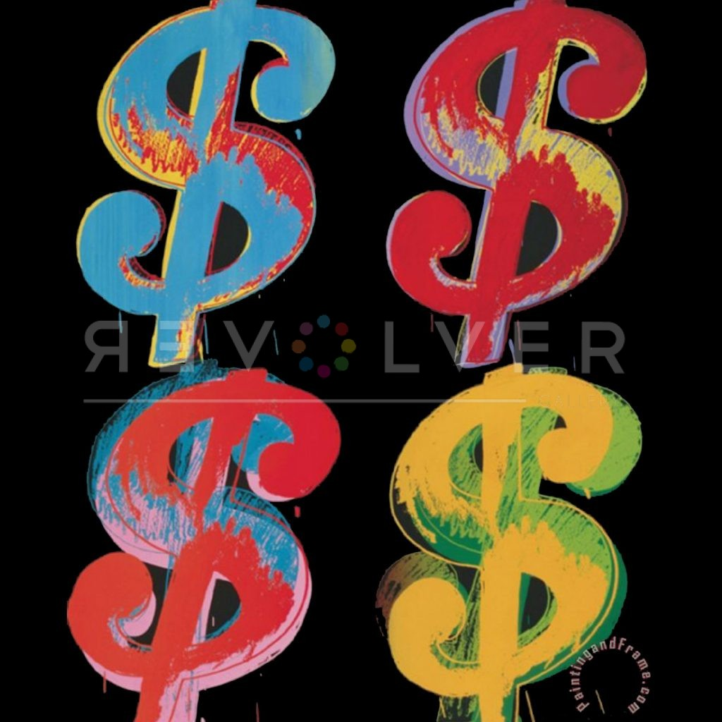 Picture ofDollar Sign (4) 281 (Black), 1981, stock version, by Andy Warhol