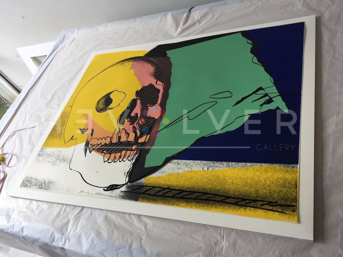 Picture of Skull (FS II.158), 1976, Original Green Screen Print Out of Frame, by Andy Warhol