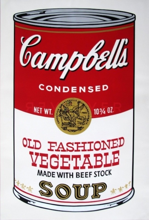Warhol Campbell's Soup Can