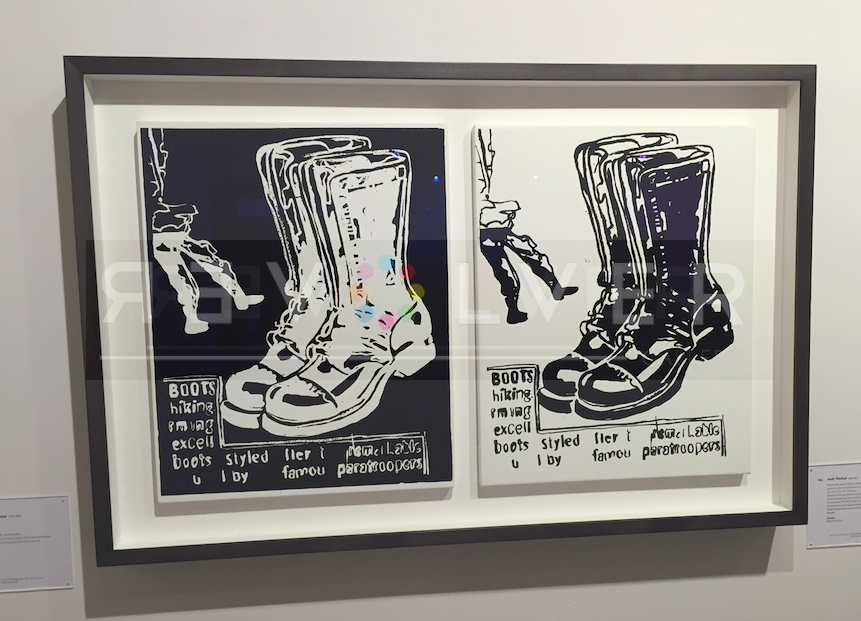 Paratrooper boots (Positive & Negative) framed.