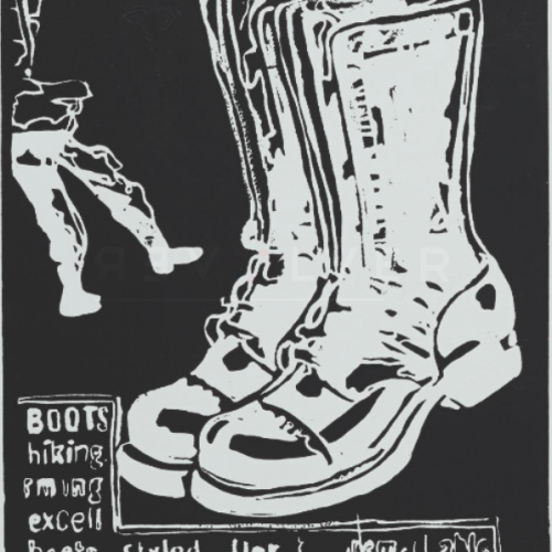 Andy Warhol Paratrooper Boots (Negative)