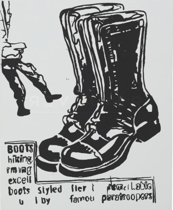 Andy Warhol Paratrooper Boot (Positive)